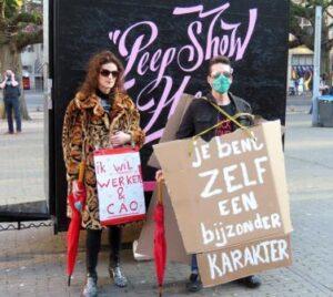 peepshow, demonstratie, sekswerk